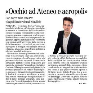 Tommaso Bori Giornale Umbria