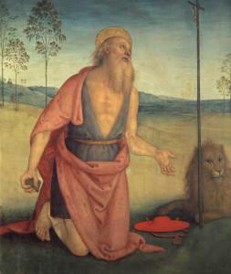 San Girolamo penitente - Perugino